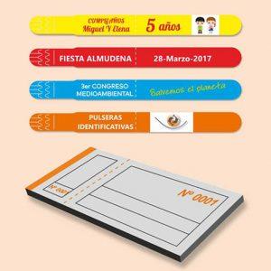 Tickets, Entradas y Pulseras identificativas