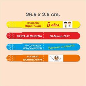 Pulseras identificativas 26,5 x 2,5 cm