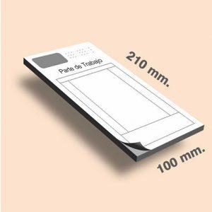 Talonarios sin copia 100 x 210 mm