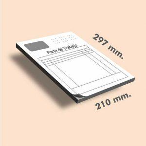 Talonarios sin copia DIN A4 297x210 mm