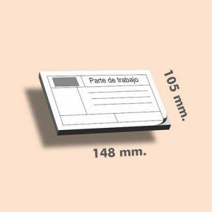 Talonarios sin copia DIN A6 148 x 105 mm