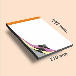 Talonarios copiativos DIN A4 297 x 210 mm
