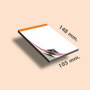 Talonarios copiativos DIN A6 148 x 105 mm