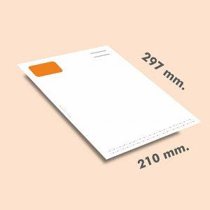 Papel cartas DIN A4 297x210 mm