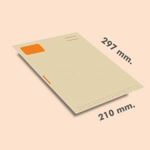 Papel cartas DIN A4 297x210 mm reciclado