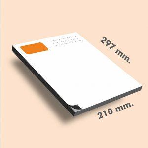 Tacos de notas DIN A4 297 x 210 mm
