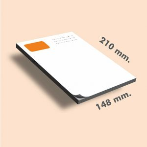 Tacos de notas DIN A5 210 x 148 mm