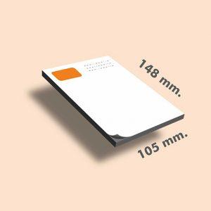 Tacos de notas DIN A6 148 x 105 mm