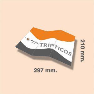 Tríptico DIN A4 297 x 210 mm